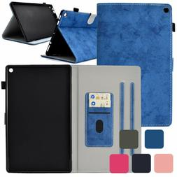 Card Slot Smart Stand Flip Case Cover For Amazon Kindle Fire