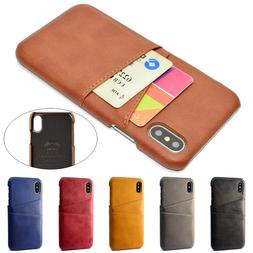For iPhone 11 Pro Max XR XS 6S 7 8 Plus Slim Leather Case Ca