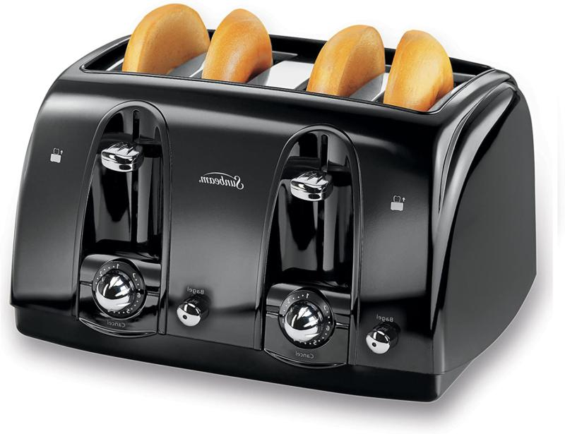 4slice toaster bread electric four wide slots