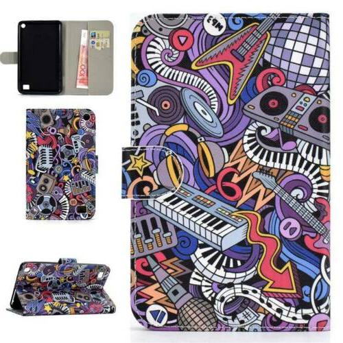 For Amazon 7 7Inch Tablet Leather Card