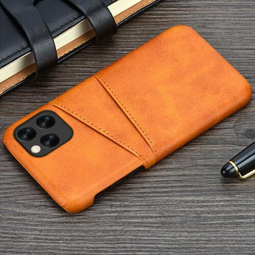 Card Slot Holder Leather Case Back Cover For iPhone Max 8 Plus