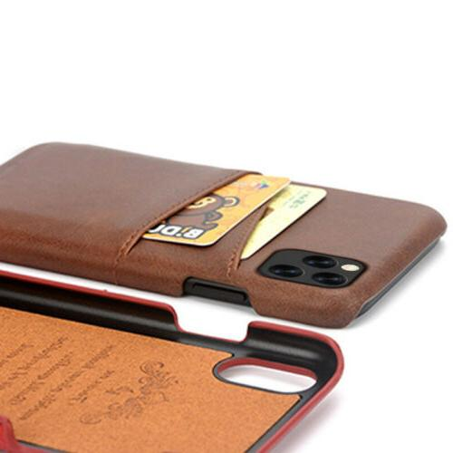 Card Slot Leather Case Cover iPhone Pro Max 8