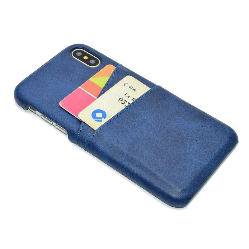 For iPhone 11 Max XR 6S 7 Slim Leather Case Back