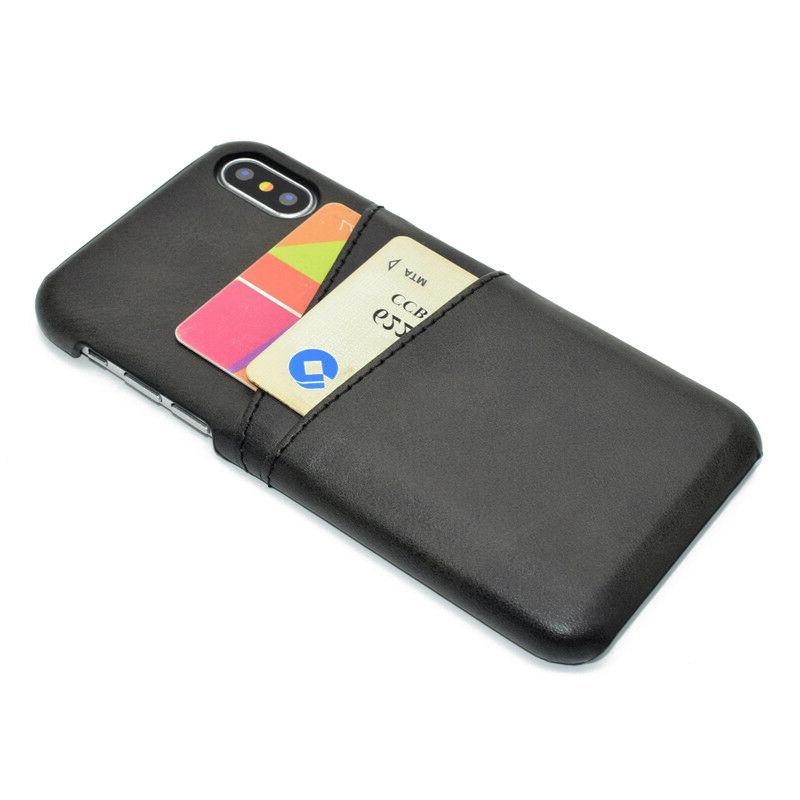 For 11 Pro Max 6S 7 8 Plus Leather Slot Back