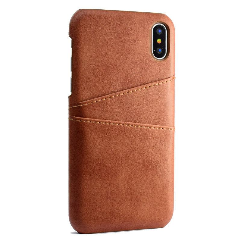 For 11 Pro Max XS 7 Leather Case Slot Back Cover