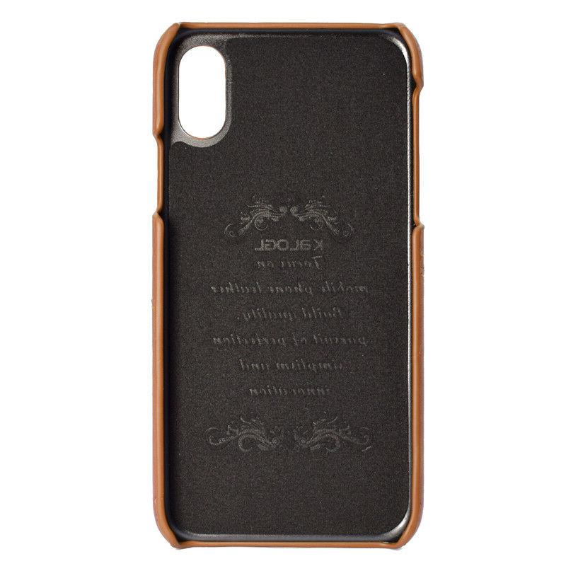For iPhone 11 Pro Max 7 Leather Case Back Cover
