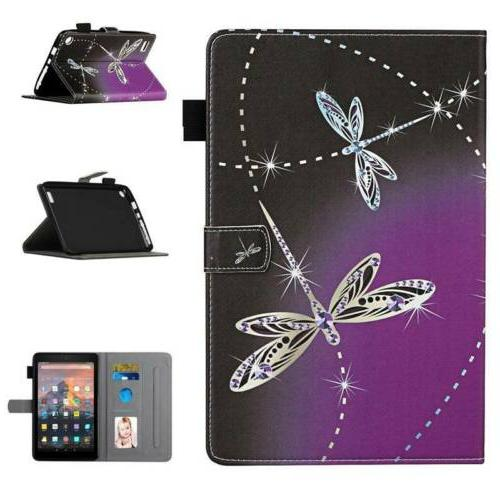 Leather Card Slot Case Cover Amazon HD8 4