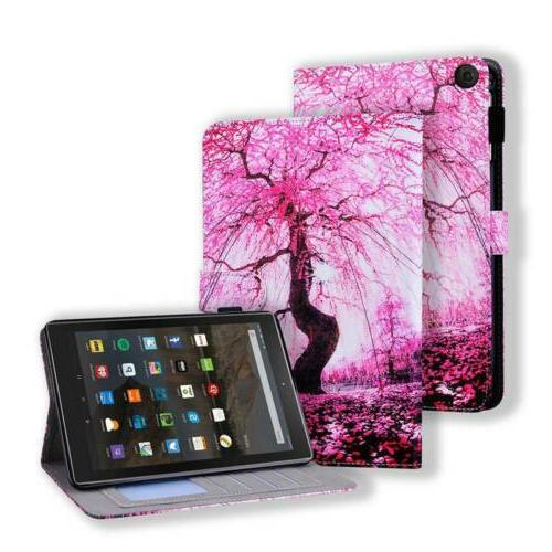"""Leather Card Case Cover Fire HD8 HD10 7th 8"""""""