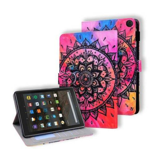 """Leather Stand Case Cover Fire HD8 HD10 7th 8"""""""