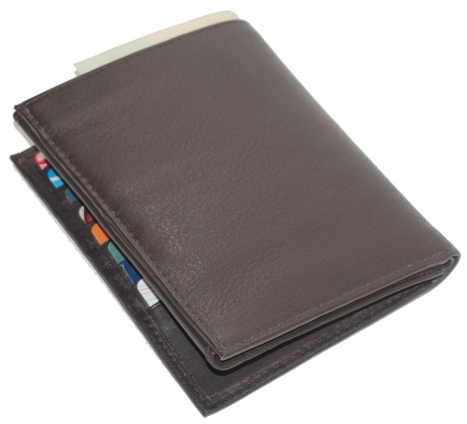 Mens Leather Wallet 2 ID-20 Brown