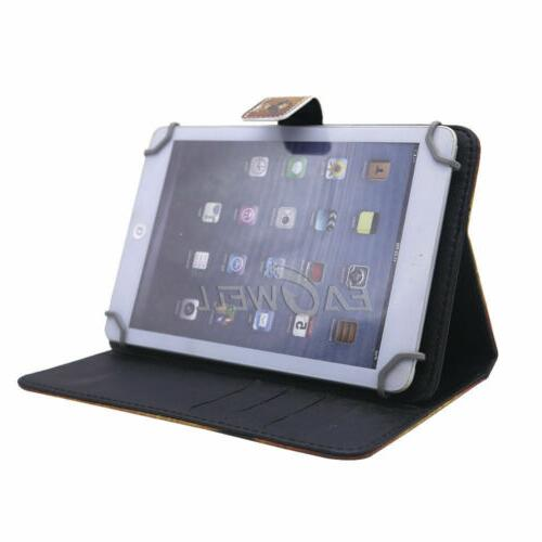 """Pattern Leather Stand Case With 7"""" Lenovo Kindle Tablet"""
