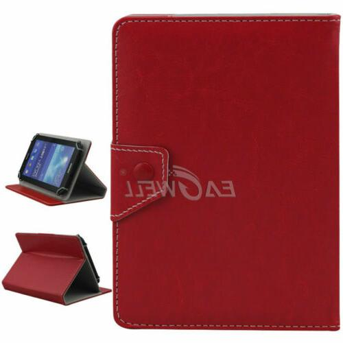"""US 7"""" Universal Flip Soft Leather Fold Card Cover"""
