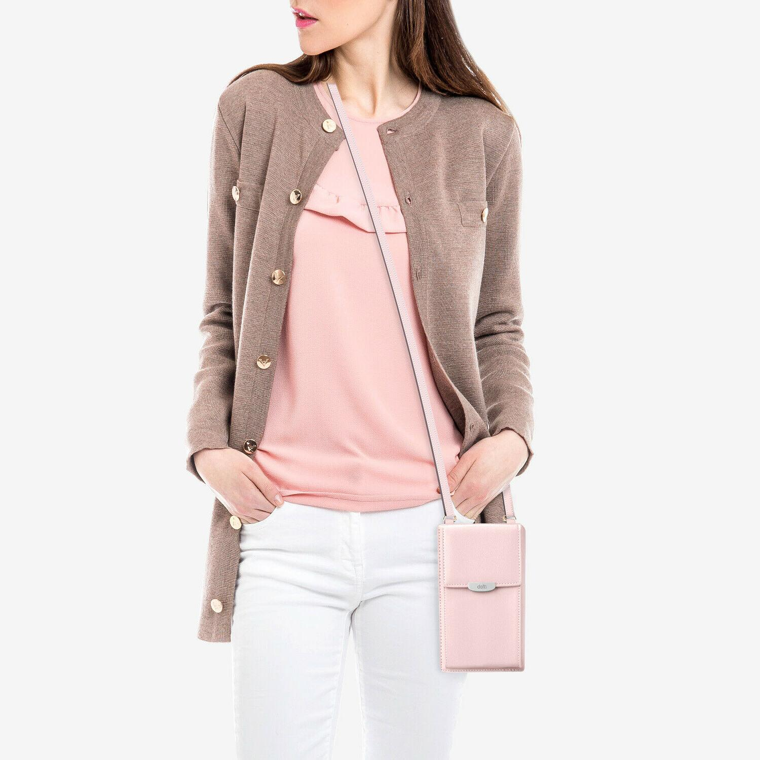 Women Small Bag, ifab Wallet w/Credit Pink
