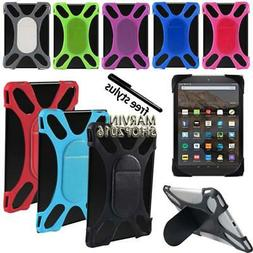 """Tablet Shockproof Soft Silicone Stand Cover Case For 7"""" 8"""" A"""